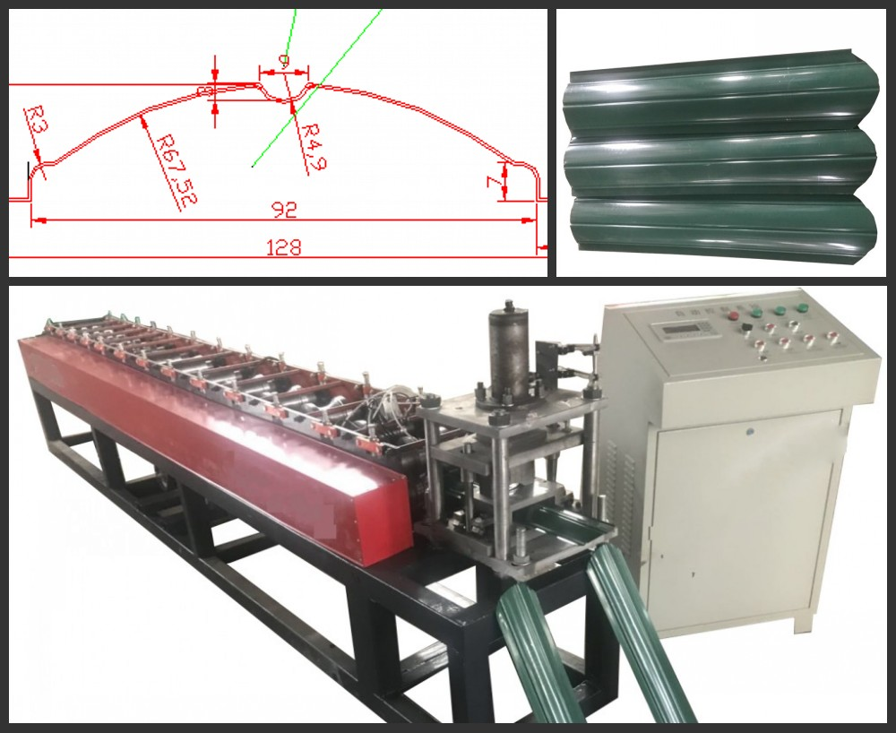 Metal Fence Roll Forming Machine Drawing