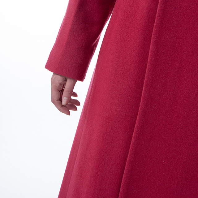 Fashion red cashmere overcoat