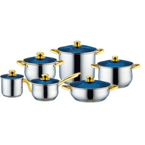 China Supplier for Copper Cookware Set Stainless Steel Cookware Set with Milk Pot supply to Poland Factories