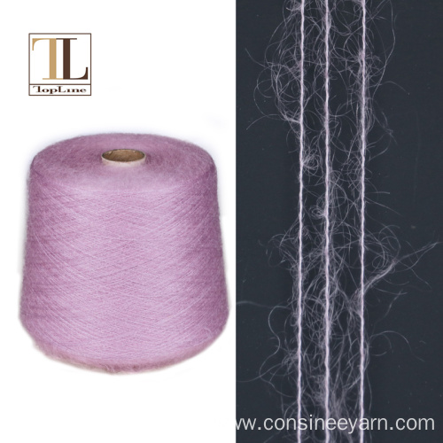 long-hair blended silk mohair yarn for knitting