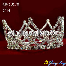 Wholesale Cheap Rhinestone Full Round Pageant King Crowns