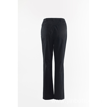 Ladies solid navy straight trousers