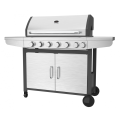 Six Burner Outdoor Barbeque Grill With Side Burner