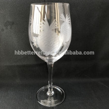 Etched Glass Goblet/Wine Glass