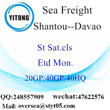 Shantou Port Sea Freight Shipping To Davao