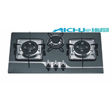 3 Burners 8MM Tempered Glass Gas Stove