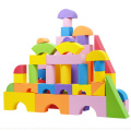 colourful Building EVA Foam Block with printing