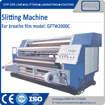 China for Best Automatic Horizontal Slitting Machine,Horizontal Slitting Rewinder Machine for Sale PE breathe film slitting machine export to Japan Manufacturer