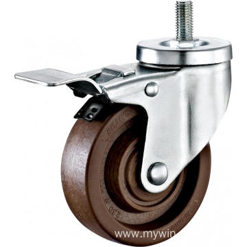 4'' Thread Stem High Temperature Caster With Brake