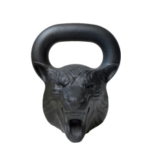 Wholesale Price for Black Cast Iron Kettlebell Casting Iron Animal Face Competiton Kettlebell export to Swaziland Supplier