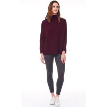 Roomy Turtle Neck Dropped Sleeve Sweater