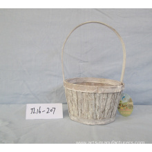 China for Wooden Basket Round Wood Bark Basket supply to Poland Factory