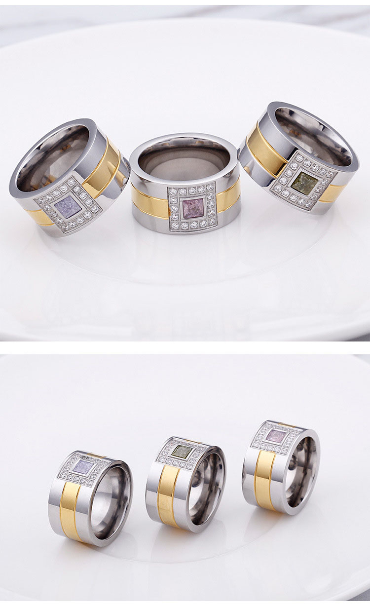 mens stainless steel diamond rings