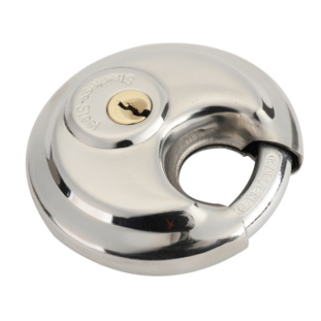 Round Cake Shape Steel Padlock Safety Disc Lock