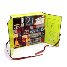 Chocolate Christmas Calendar Gift Packaging With Foil Logo