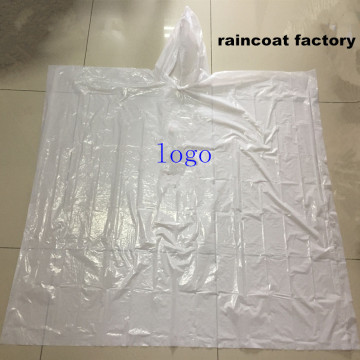 Promotional Waterproof clear disposable pe rain poncho