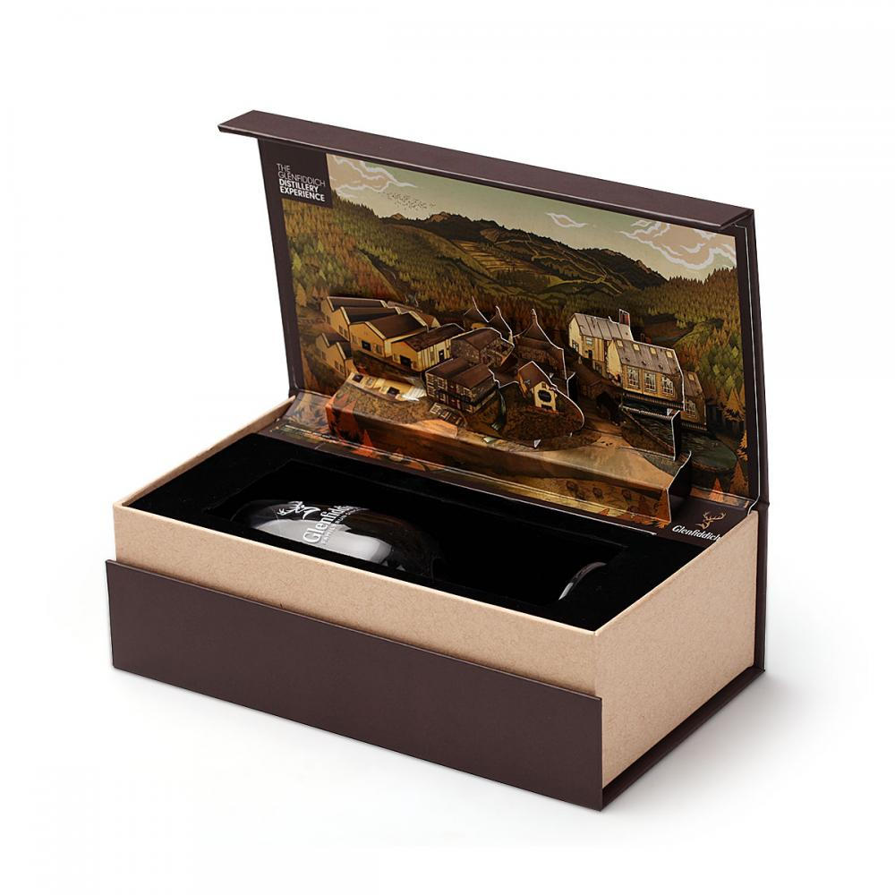 Luxury Wine Glass Paper Gift Box with Magnet