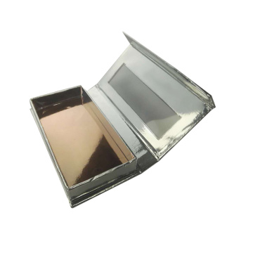 Custom Luxury Magnetic Silver Eyelash Box