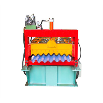 Roof corrugated sheet roll forming making machine