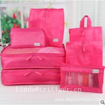 wholesale pink purple beautiful travel luggage bag set