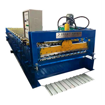 Trapezoidal sheet machine roofing panel making machine