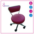 Stool For Pedicure With Backrest