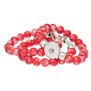 Multi Colors Acrylic Beads Noosa Button Elastic Bracelet