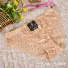 wholesale China new style panty apricot sexy female lace elastic fancy underwear A638