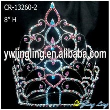 Holiday Valentine's Day Heart Crystal Crowns