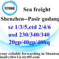 Shenzhen to Pasir Gudang International Freight Forwarder