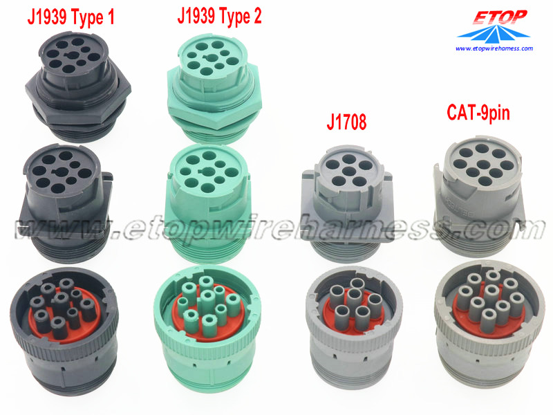SAE J1939 OBD diagnostic connectors
