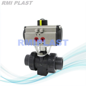 PVDF Pneumatic Ball Valve Single Acting