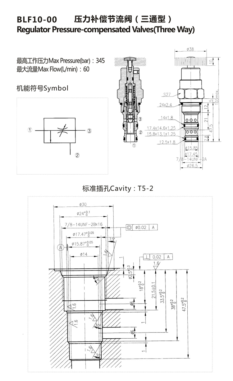 Hydraulic Pressure Compensated Flow Control Valve