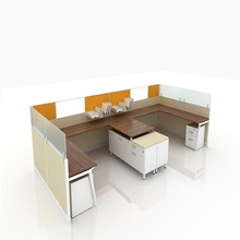 Office desk cubicle L shape workstation