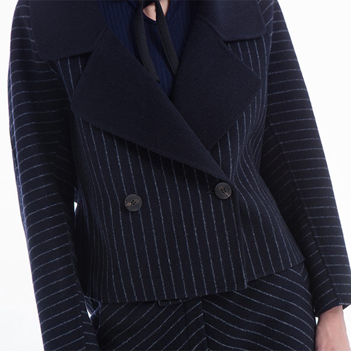 New styles blue stripes Simple Suit