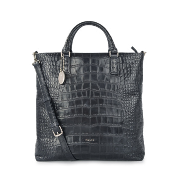 Croc-embossed Tote Crocodile Grab Bag Kelly Crocodile Bag