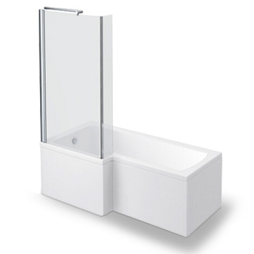 Bathroom Large Corner Bathtub and Shower Combination