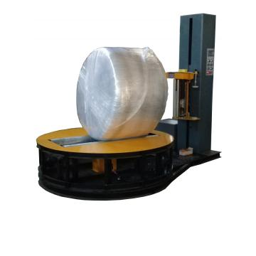 Paper roll stretch film wrapper