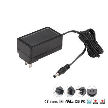 24W plug - in medical power supply with 5V/6V/9V/12V/15/24V