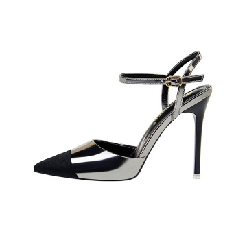 Sexy Pointed Toe Bulkle Stiletto Heels Sandals