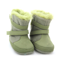China for Baby Boots Moccasins Hard Sole Genuine Leather Winter Baby Boots supply to France Factory