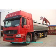 China Exporter for Mobile Refueling Trucks 8x4 35000L Refueling Diesel Tank Fuel Truck supply to Maldives Factories