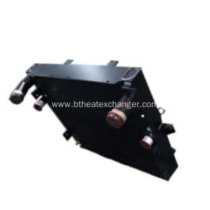 Oil Water Air Combined Plate-Fin Cooler