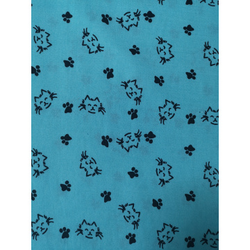 Cats Design Rayon Challis 30S Air-jet Printing Fabric