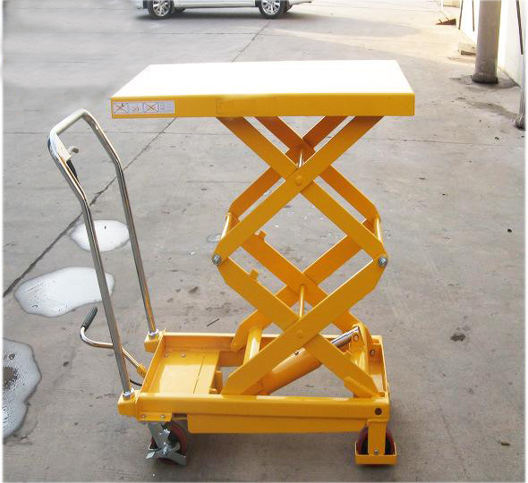 Small Trolley Lifter Aluminium Lift Table