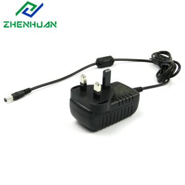 9W 9V 1A UK Plug AC DC Adaptor