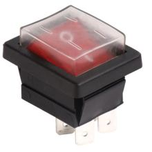 Customized for Middle-Sized Rocker Switches on off Rocker with Waterproof cover supply to Guadeloupe Supplier