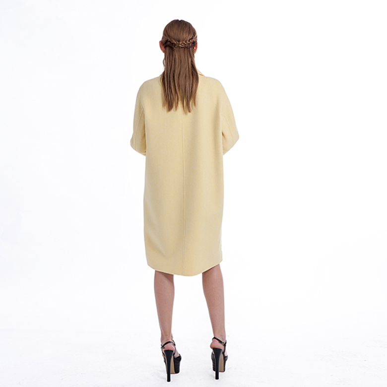 Yellow Cashmere Blended Overcoat