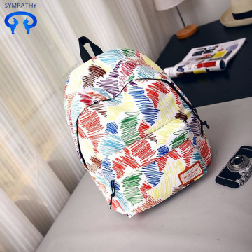 New printed backpack women's fashion travel bag