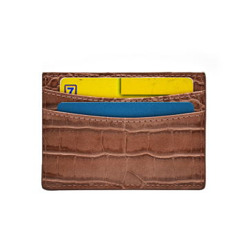 Genuine Crocodile Leather Business Credit Id Card Holder
